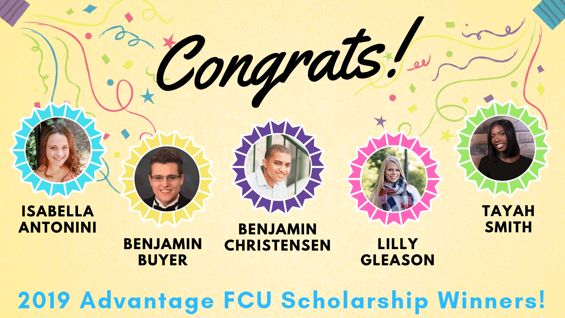 2019 Advantage FCU scholarship winners image